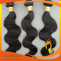 Free Shipping natural color top quality Brazilian hair body wave human hair extension