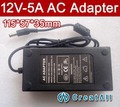 2pcs CreatAll 12V 5A AC Adapter,60W 5.5 x 2.5mm For Laptop & monitor,LCD desktop power,QC-20SJ-A05 AC Adapter,Free shipping
