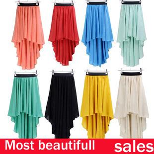 faldas primavera verano caliente larga de impresi n de flores faldas