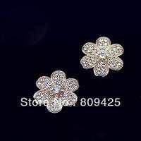 Free shipping!hot sell min order $15 Alloy full rhinestone flower  DIY phone decoration 12pcs/lot diy flowers DY580