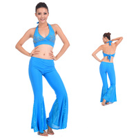 egypt dancewear women girls costumes sexy Autumn and winter belly dance set fish tail pants fitness clothes set leotard