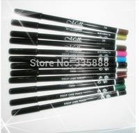 New Make-up menow wood multicolor multicolour eyeliner pen lip liner eye shadow pen 12Pcs/Lot Free Shipping