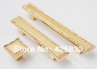 96mm 24K Gold Drawer Pull Antique Brass Plating  Zinc Alloy Diamond Cabinet  Knobs Handle Home Door Knob