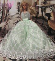 Free shpping Evening dress wedding dress, big skirt princess dress for barbie dolls hot sale