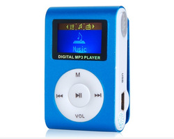 Free Shipping Wholesale Bulk 1 Inch LCD Screen Mini Clip MP3 Player with Micro SD/TF Card Slot Without Earphone USB Cable Box(China (Mainland))