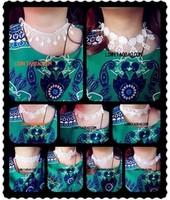 Hotsale vintage new fashion luxury handmade 10style white flower lace collar tassel necklace bridal wedding necklaces for women