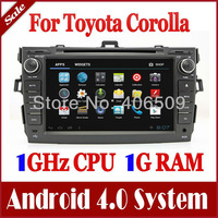"Android 4.0 8"" Head Unit Car DVD Player for Toyota Corolla 2006-2011 with GPS Navigation Bluetooth Radio TV USB Video Multimedia"