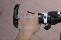 Free shipping Ergonomic rubber lock meatballs Grips MTB Grip + Aluminum deputy put horns