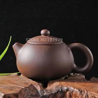 Genuine yixing teapot ore purple clay pot, XiShi teapot 200ml, puer tea set, high-quality promotion~
