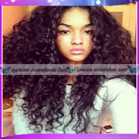 150density  brazilian virgin hair curl wig  lace front wig human hair glueless baby hair around free shipping