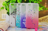 New Design Chinese style TPU Painted diamond back case for Apple Iphone 5/5S