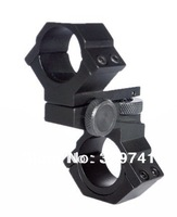 Scope Mount Adjustable Elevation and Windage 25.4mm & 30mm for Flashlight Aiming
