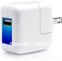 Free Shipping(30pcs/lot) AC to DC Adaptor USB charger  Wall Charger for iPhone, iPad, Mobilephone US/UK plugs LED indicator