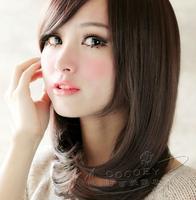 3 Colors Simple Cute Ladies/Women Short Bob Hair Straight Synthetic Wigs Black Dark Brown Light Brown