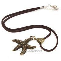 14pcs Fashion Retro Bronze starfish Pendant long 46cm new necklace 61792