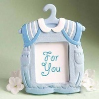 Free Shipping---Cute Blue Baby Clothes-rack & Clothes Photo Frame/Card Holder 25pcs/LOT