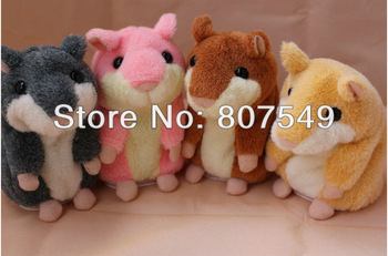Hot Sale Video Version Early Learning Talking Hamster Plush Toy for Kids