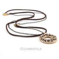 2pcs New Black Hollow Zebra Round double Adjustable chain Sweater coat necklace Style 61796