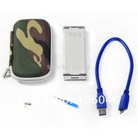 Brand new Fenvi brand Ultra thin and light Aluminum HDD Enclosure mini pci-e msata ssd to USB3.0 the external hard drive case