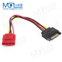 SATA 15pin Male Power Connecter to Molex 4pin Female adapter Cable