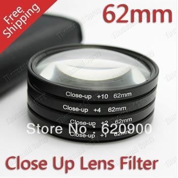 100% GUARANTEE  62mm +1+2+4+10 Close Up LENS Filter kit MACRO Close-Up for canon 1000D 650D 550D 600D 500D 450D 350D 300D