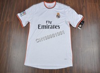 NEW SEASON!!!Real madrid Home White Soccer Jersey 13/14,Embroidery Logo Thailand Quality Real madrid Soccer Shirt+free Shipping