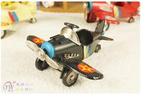 Metal craft plane Home handmade vintage tieyi model photography props decoration