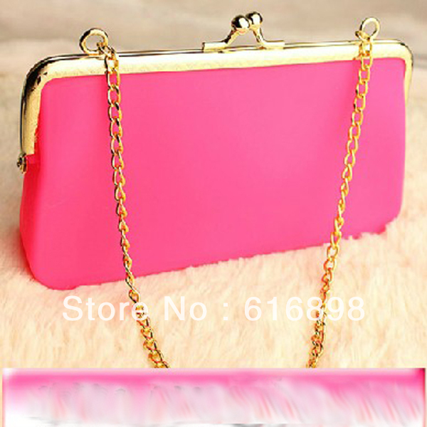 Factory Wholesale Price Free Shipping Rubber Silicone Cosmetic Makeup Bag Coin Purses Wallets Cellphone Case(China (Mainland))