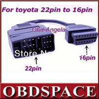For TOYOTA 22pin to 16pin OBD1 to OBD2 Adapter Cable