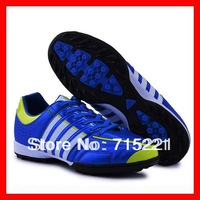 2014 free shipping discount blue mens european boots soccer turf cleats for football soccer shoes leather