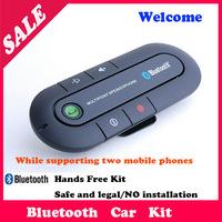 Hot Sales-Bluetooth Handsfree Speakerphone Car Handsfree Kit With Car Charger Bluetooth Hands free Kit For ALL Mobile Phones