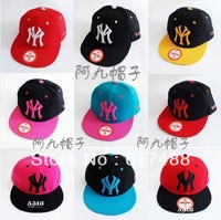 Free shipping Hot Sale Trend HARAJUKU NYC Fashion Flat Brim Hat Baseball Caps Hip-hop Hats Sun Hat Hip hop Cap For Women and Men