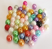 6mm 80 colors for choosing Glass Imitation Pearls Loose beads for Necklace/Bracelet DIY Accessory