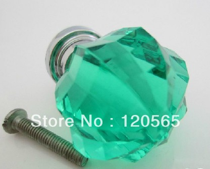 Emerald Green Acrylic Crystal Handle multi-faceted garden furniture pumping hands grip Children(China (Mainland))