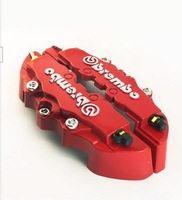 Universal Kit Red  ABS Disc Brake Caliper Cover With  3D Brembo
