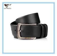 Certified Genuine Leather Men Pin Buckle Belt  Cowskin Split Leather Belt Men Black Waist Belts Alloy Buckle 1.1-1.25M 7A1208100