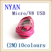 Universal Micro 5 Pin V8 USB Data Sync 2.0 Cable For HTC Samsung Galaxy S4 S3 Sony Blackberry Kindle Fire Motorola 6FT 2M 500PCS