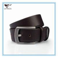 2013 New  Certified Belt Genuine Leather Men Pin Buckle Belt  Cowskin Split Leather Men Brown Waist  Belt Alloy Buckle 7A1208200