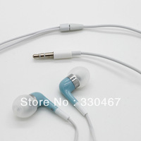 10Pcs/Lot   Free Shipping  colorful   3.5mm  Stereo In-ear earphone  For iPhone 4 4s   ipod shuffle  iPhone 5 5G