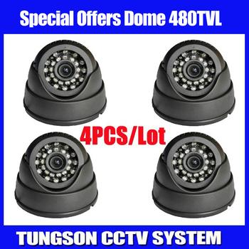 CMOS 480TVL Video Surveillance Night Vision Color IR Small Indoor Black Dome Home Security CCTV Camera Free Shipping