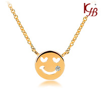 2013 Hot Jewelry  Smile  Face the small cross Necklace C4243