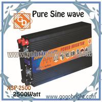 Free shipping 2500W 12Vdc Pure sine wave inversor XSP-2500-12V
