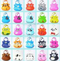 FREE shipping silicone baby bib animal 30 designs 16 COLORS Fashion