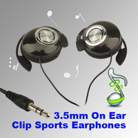 Sport  Earphone Clip On Sports Stereo Super Clear Bass Ear Hook Headphones Earphone Noise isolating  for MP3 MP4 Cellphone hv3n
