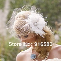 New Fashion Pretty Bridal Feather Hair Clips Bridal Fascinator Free Shipping