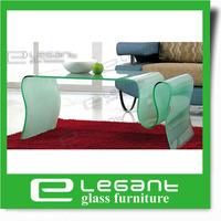 2013 Elephant Bent Glass Coffee Table/Glass Furniture-CB068