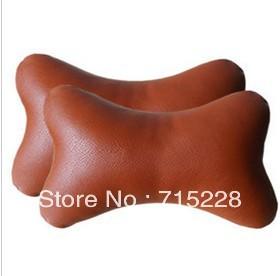 Auto neck pillow linen headrest bone pillow kaozhen leather neck pillow four seasons general auto supplies Free Shipping(China (Mainland))