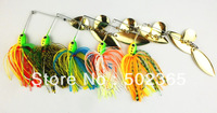 New 5pcs 16.3G spinner bait,buzz bait,fishing lure,fishing bait,spoon baitrubber jig (SB001) spoon bait free shipping