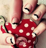 Free Shipping Nail Wraps Nail Art  Foil Sticker, Black Moustache for Natural or False Nails NA0001