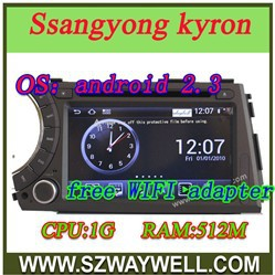 Pure Android 4.0 Ssangyong Kyron car DVD GPS navigation free map